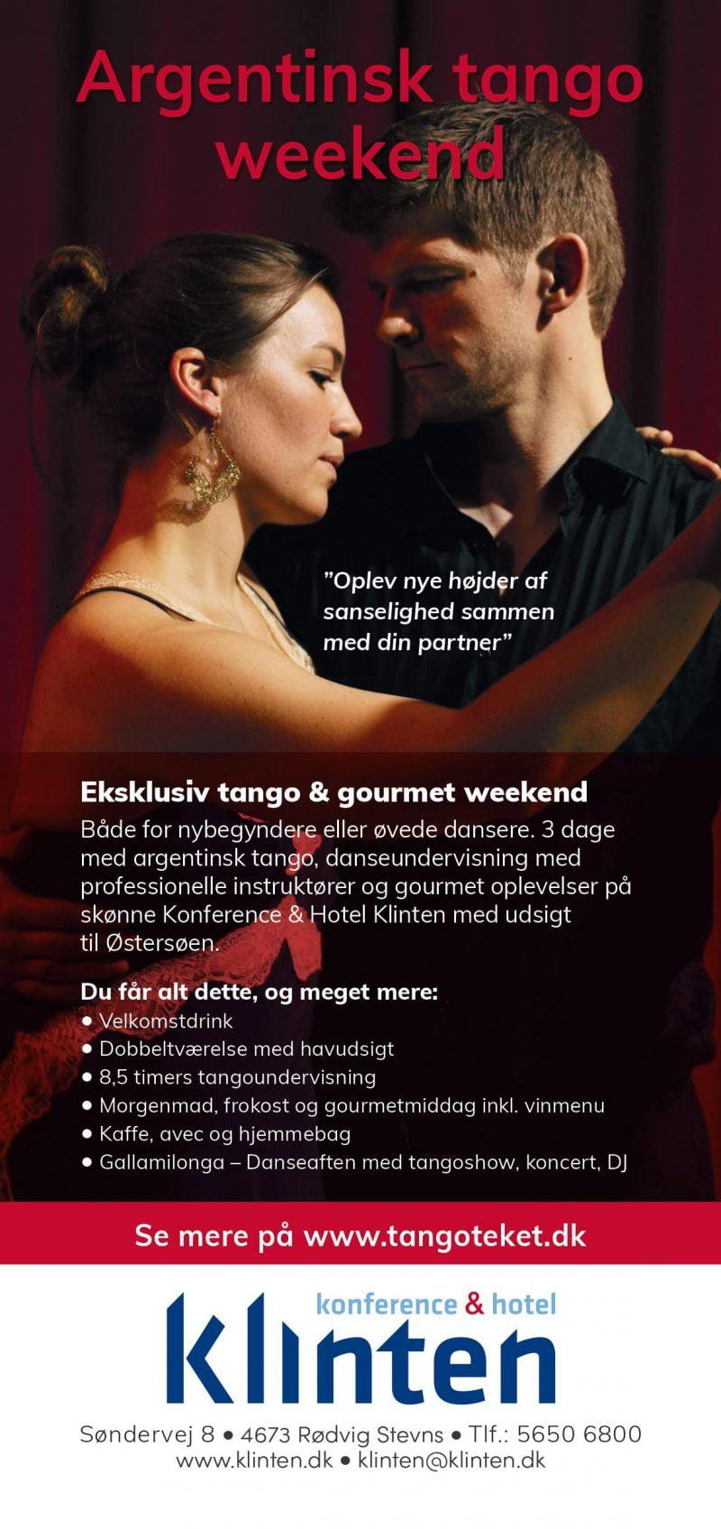 weekendophold dans og gourmet argentinsk tango